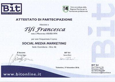 Certificazione Socialmedia manager Regione Marche