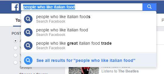 Facebook Marketing, la Graph Search